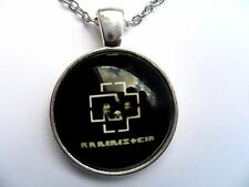 Stunning RAMMSTEIN Glass Dome Black Necklace e