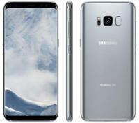 UNLOCKED Samsung Galaxy S8 64GB Silver 5.8in G950U Clean IMEI Used Smartphone