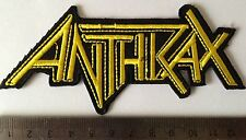 Anthrax heavy metal music iron on sew on embroidered patches badges patch badge