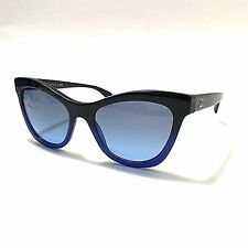 Genuine CHANEL Cat Eye Black Blue Gradient Sunglasses 5350 c.1558/S2 GREAT Cdt