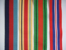 WWII Africa Star Four Medal Group of Ribbons Full Size 16cm