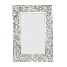 Rectangle Mirror frame raw aluminium in a soft Silver Finish frame Handmade