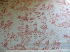 SCALAMANDRE ASIAN GARDEN ROSE PINK WHITE TOILE BTY