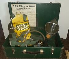 Vintage Miners  MSA O2 mask with CLEARVUE FACEPIECE with Box America case COAL