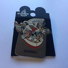 WDW - Monorail SANDRA Name Pin FAB 4 Mickey Minnie Goofy Donald Disney Pin 15004