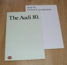 AUDI 80 BROCHURE 1988 1.8 S 1.8E 1.8 Quattro
