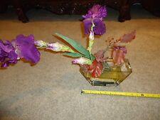 VINTAGE ANTIQUE RARE Emilio Robba Paris Flower Glass Vase Purple Floral Art