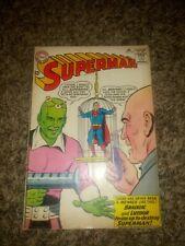 Superman #167 (1964) 1ST LEX LUTHOR BRAINIAC TEAM-UP & ORIGIN APP KEY APPEARANCE