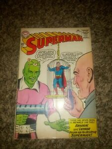 Superman #167 (1964) 1ST LEX LUTHOR BRAINIAC TEAM-UP & ORIGIN APP KEY APPEARANCE