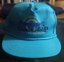 WCHA 1992 5th Anniversary Hockey SnapBack Golf Hat Minnesota Gophers Hockey