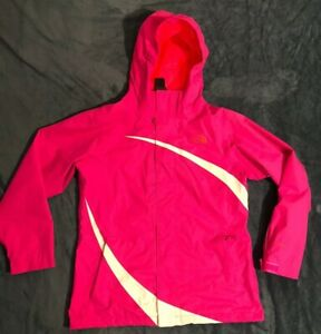 The North Face Hyvent Hooded Rain Jacket Coat Pink Youth Girls Large 14/16 EUC
