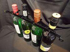 1x para 4 sostenedor de botella de vino de cuello negro Metal. Niquelado. Autocaravana/caravana