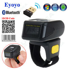 Wireless Barcode Scanner Bluetooth Ring 2D Bar Code Fast Reader For IOS Android