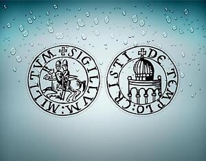 2x autocollant sticker ordre malte templier knights croisades templar crusader B