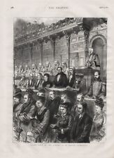 OLD ANTIQUE 1875 PRINT STATE VISIT OF THE JUDGES TO ST PAUL'S CATHEDRAL  b41