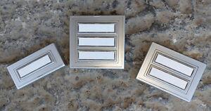 Klingel Klingeltaster Klingelknopf Klingelplatte silber / Kunststoff - Auswahl