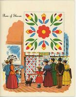 VINTAGE COUNTRY FAIR RIBBON PRIZE ROSE OF SHARON QUILT PRINT 1 AUTUMN FARM CARD