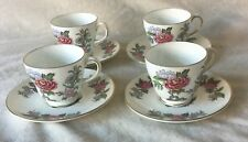 4 X WEDGWOOD CATHAY DEMITASSE CUPS & SAUCERS EXCELLENT CONDITION FIRST QUALITY