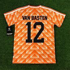 The Netherlands Retro Football Soccer Jersey. 1988, Van Basten #12 (LOOSE FIT)