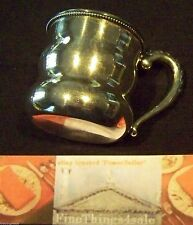 ANTIQUE FANCY LARGE SILVER BABY BEVERAGE GOBLET - NO MONOs -  OUR FineThing4sale