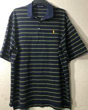 Polo Golf Ralph Lauren Men's Polo Shirt Sz XL Navy Striped 100% Pima Cotton