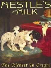 Nestle's Milk Cream, Can, Vintage Food, Old Shop, Puppy, Small Metal/Tin Sign