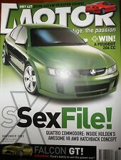 Motor Mag 2002 HSV VY GTS BMW M5 Jaguar S-Type R Ford FPV GT Falcon Holden SSX