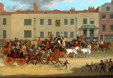 James Pollard North Country Mail Coach at The Peacock Islington 7x5 Inch Print