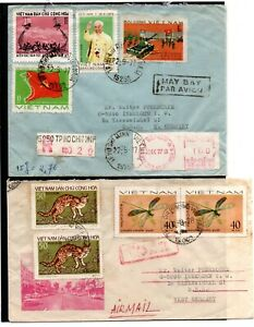 VIETNAM , 1977 , 1978 , two nice covers to Germany , LOOK !