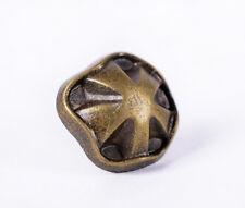 11MM Pkg of 50 BRONZE-TONE Flower Metal Rivet Studs Conchos Leather Crafts Decor
