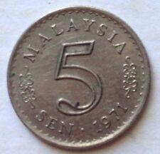 Malaysia 5 sen 1971 coin