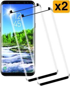 2x Panzerfolie Glas Samsung Galaxy S8 / S9 / Plus / S7 Edge S6 Schutzglas 3D Neu