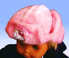 Süße Plüsch-Mütze (Schapka) Hello Kitty, rosa, Gr. 52