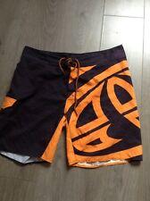 "Animal Black/Orange Swimming Shorts Size 34"""
