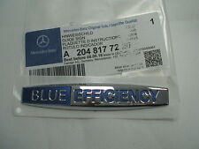 Genuine Mercedes-benz Blue Efficiency Wing Badge Decal A2048177220