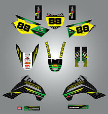 Kawasaki KLX 140 2008 - 2014 Custom Graphic  Kit -FACTORY STYLE stickers decals