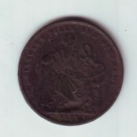 1857 Token 1 Penny Professor Holloway's Pills & Ointment London England GB