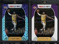 2020-2021 NBA Hoops Lebron James #146 Teal Explosion Holo & Base LA Lakers