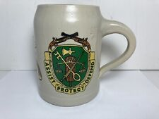 New listing Vintage Military Police 5th Annual Ball German Beer Stein Cup Mug 0.5 L.