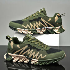 Mens Womens Shoes Camouflage Army Green Athletic Sports Casual Running Sneakers
