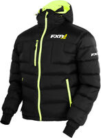 FXR Mens Black/Hi-Vis Elevation Down Insulated Snowmobile Jacket Snocross