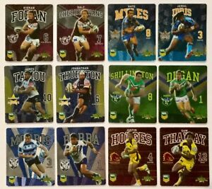2013 NRL RUGBY LEAGUE TAZOS – COMPLETE SET OF 48 PLAYER CARDS