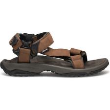 Teva Terra Fi Lite Leather Mens Brown Velcro Walking Sandals Sports Shoes 13