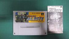 SNES -- SUPER ALESTE -- Nintendo. Super famicom. Japan game. work fully!! 12634