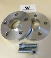 15mm VW AUDI 5x112 Hubcentric Wheel Spacers, 57.1 bore 10 Wheel Bolts UK Made
