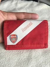 ARSENAL Gentlemans Red And White Canvas Bifold Wallet.