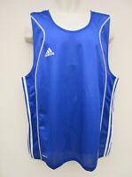 Adidas - BNWT - Mens Blue 3 Stripe Sleeveless Boxing Top - size 2XL