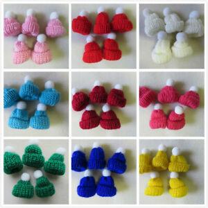 Pompom Pom Pom Miniature Knitted Hats 42mm 15 Colours 10 - 100 Craft Jewellery
