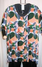 Túrbulence: transparente Georgette Chemisier multicolore, manches mi-longues Taille 48 - 54 Neuf