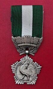 Médaille d'honneur Départementale Communale - argenté signé crouzat